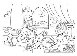 Small Picture Samuel and Little Saul in the Story of King Saul Coloring Page
