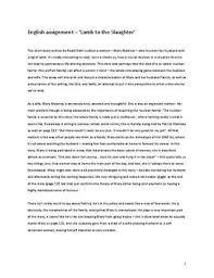 essays lamb slaughter essay help essays lamb slaughter