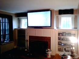 lcd fireplace tv stand hanging