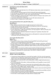 Manager Hr Operations Resume Samples Velvet Jobs