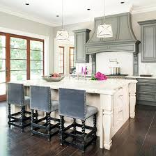 Small Picture Gray Upholstered Kitchen Counter Stools Design Ideas