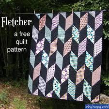 Best 25+ Quilt patterns free ideas on Pinterest | Quilting ideas ... & Fletcher - a FREE Chevron Quilt Pattern Adamdwight.com