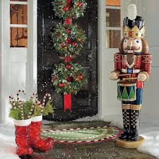 Christmas Lighted Soldiers Nutcracker Soldier Statue 5 Lighted Musical 8 Songs Outdoor
