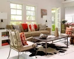 cowhide rug in living room interior design