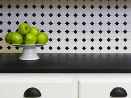 Black And White Kitchen Tiles Checkered Black And White Kitchen Backsplash The Kitchen Remodel
