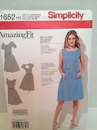 Simplicity Pattern Magnificent Simplicity Pattern 48 Misses Sz 4848 Fit Custom Sized Dress eBay
