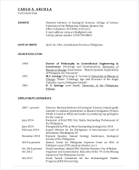 Fresh Geological Engineer Sample Resume Unthinkable Download Com