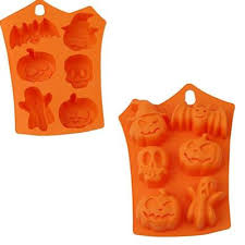<b>Halloween Silicone Cake Mold</b> Pumpkin Ghost Bat Shape Biscuits ...