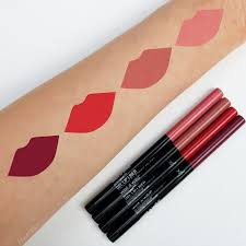 wet n wild perfect pout gel lip liner review swatch swatches plum together red the