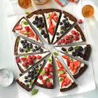 berry patch brownie pizza