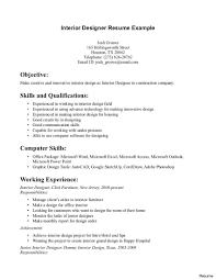 Resume Objective For Graphic Designer Interior Design Resume Samples Picture Tomyumtumweb Templates 87
