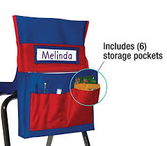 Chair Storage Pocket Chart Carson Dellosa Cd 158035 Chairback Buddy Pocket Chart Blue Red