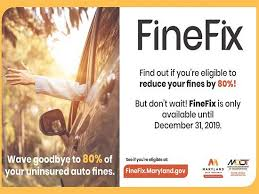 Offer proof that your vehicle no longer requires car insurance (e.g., paperwork showing that it was. Maryland Auto Finefix Program Enrollment Open Until December 31 2019 Thebaynet Com Thebaynet Com Articles