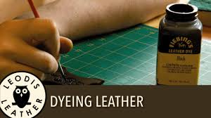 information about dyeing leather