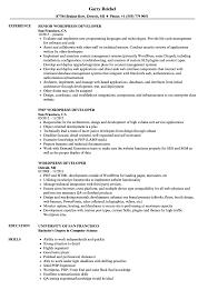 Php Developer Resume Wordpress Developer Resume Samples Velvet Jobs