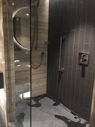 open shower stalls. Hilton London Bankside: Open Shower Stall With Rain Showerhead And Slate  Floor Open Stalls H