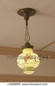 lighting arts and crafts pendant lighting fixture paa shaped reverse painted light