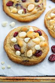 cranberry white chocolate macadamia nut cookies so thick and chewy