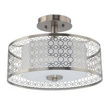 home decorators collection 14 in 1 light brushed nickel integrated led semi flushmount