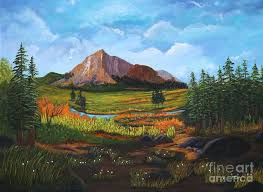 Mountain Meadows Painting by Myrna Walsh