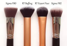 foundation brush real techniques. real techniques expert face brush sigma f82 comparison foundation