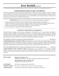 Crna Resume Some Samples Of Crna Resume Here Are Useful For You Who