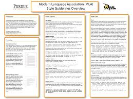 Mla Citation Template Mla Classroom Poster Purdue Writing Lab