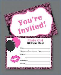 Free Printable 13 Birthday Party Invitations Girl My Teenage For