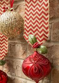 1. Ornament Hanging: Source Source. Take stunning ornaments in red and gold  ...