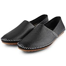 home men shoes solid color handwork slip on men casual leather shoes
