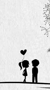love cute cartoon little couple iphone 5s wallpaper