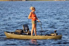 nucanoe frontier fishing kayak trolling motor