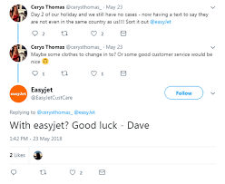 Another Way To Say Customer Service Hilarious Fake Easyjet Customer Support Twitter Account Suspended As