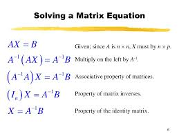 solve the matrix equation ax b for x given since a is n n x must by n p