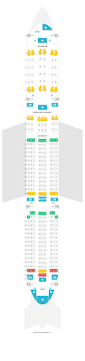 Seat Map Airbus A350 900 359 V2 Lufthansa Find The Best