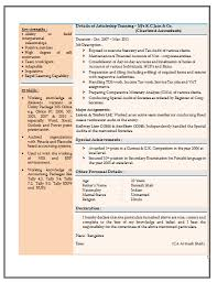 resume format for experienced accountant resume sample for experienced chartered accountant 2 job