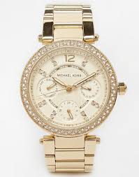 Золотистые <b>часы Michael Kors MK6056</b> Parker | ASOS