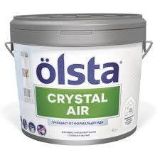 Инновационная интерьерная <b>краска Olsta Crystal</b> Air (9 л) в ...