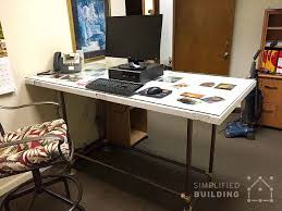 building an office desk. Pipe Standing Desk Building An Office