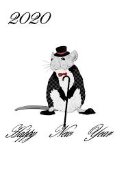 年賀状 2020年令和2年 子年 無料テンプレート かわいいネズミ 和模様