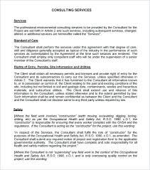 Contract Service Agreement Unique Contract Template For Consulting Services Skincenseco