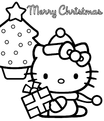 Small Picture Hello Kitty Coloring Page Christmas Christmas Coloring pages of