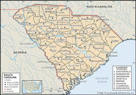 state and county maps of south carolina