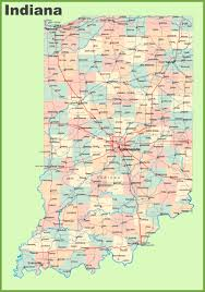 road map of indiana with cities
