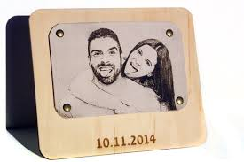3rd anniversary gift photo printer on leather