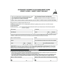 Automatic Withdrawal Form Template Partial Payment Installment Agreement Form Monthly Template