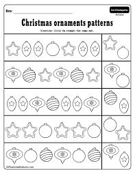 Preschool Christmas patterns activities for fun holiday math lessons ...