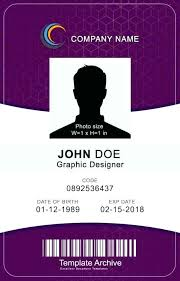Blank Id Card Template Unique Employee Id Card Template Free Download Vertical Badge 44 Word