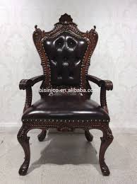 american latest design retro wooden dining chair vintage leather upholstered arm chair 01