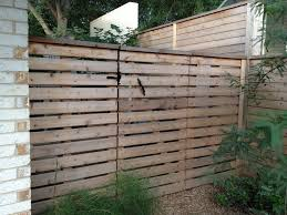 horizontal wood fence gate. Exterior View - Spaced Horizontal Gate On Wood Posts Fence +